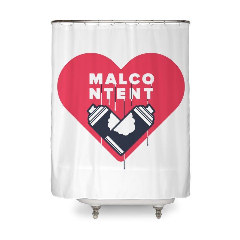 MALCONTENT Graffiti Home Shower Curtain by Rick Pinchera's Artist Shop