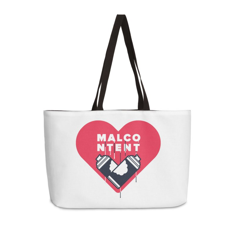 MALCONTENT Graffiti Accessories Weekender Bag Bag by Rick Pinchera's Artist Shop