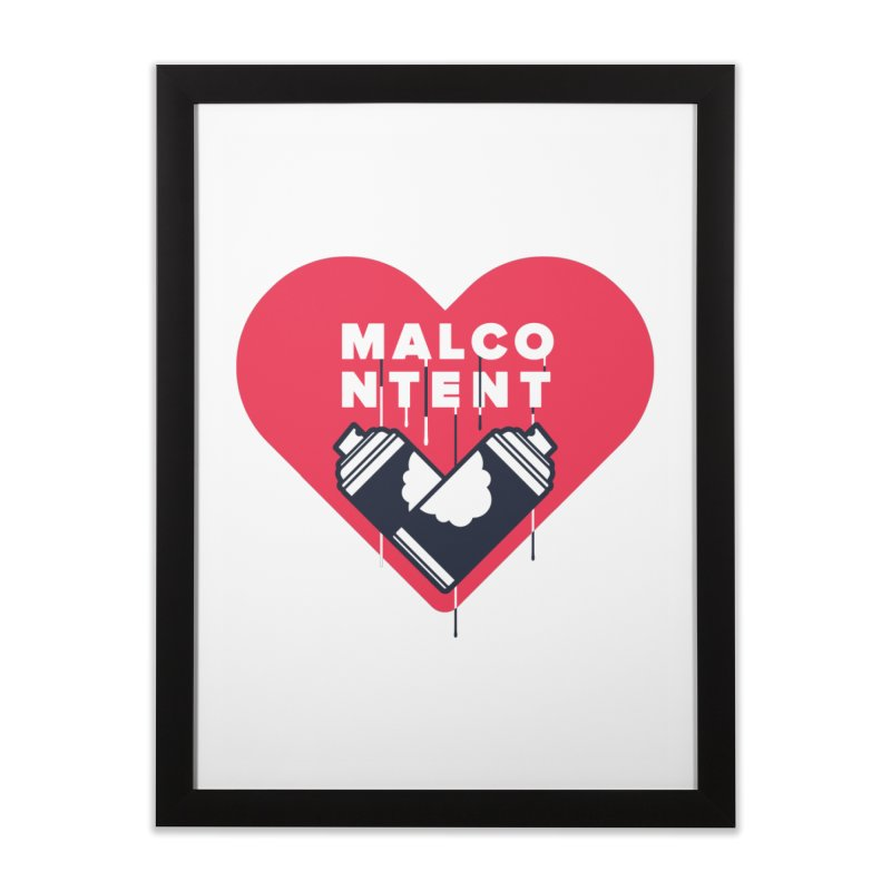 MALCONTENT Graffiti Home Framed Fine Art Print by Rick Pinchera's Artist Shop