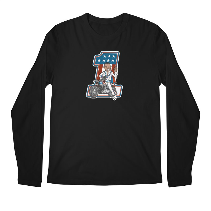 The President Men's Regular Longsleeve T-Shirt by Rick Pinchera's Artist Shop