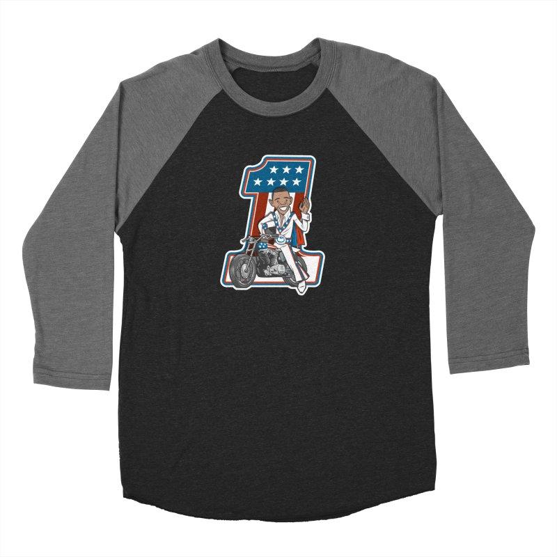 The President Men's Baseball Triblend Longsleeve T-Shirt by Rick Pinchera's Artist Shop