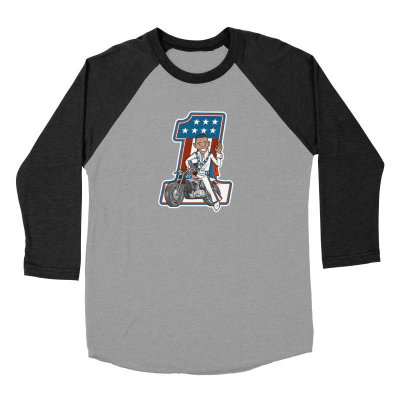 The President Men's Baseball Triblend Longsleeve T-Shirt by Rick Pinchera's Artist Shop