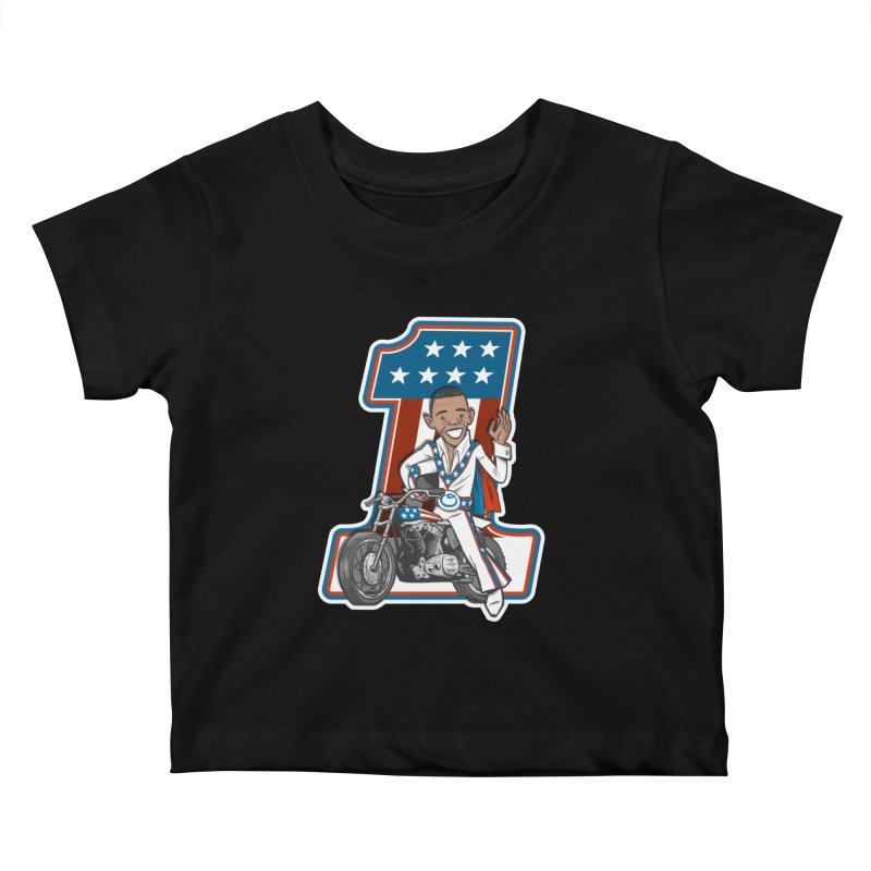 The President Kids Baby T-Shirt by Rick Pinchera's Artist Shop