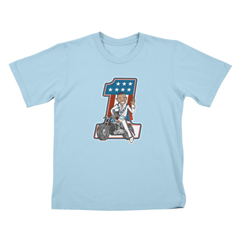 The President Kids T-Shirt by Rick Pinchera's Artist Shop