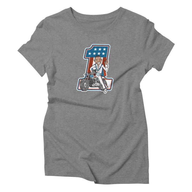 The President Women's Triblend T-Shirt by Rick Pinchera's Artist Shop
