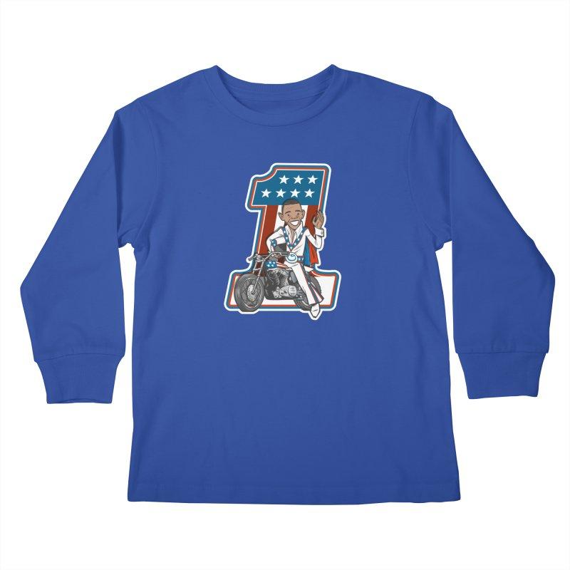 The President Kids Longsleeve T-Shirt by Rick Pinchera's Artist Shop