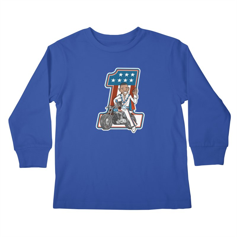 The President Kids Longsleeve T-Shirt by Rick Pinchera's Artist Shop