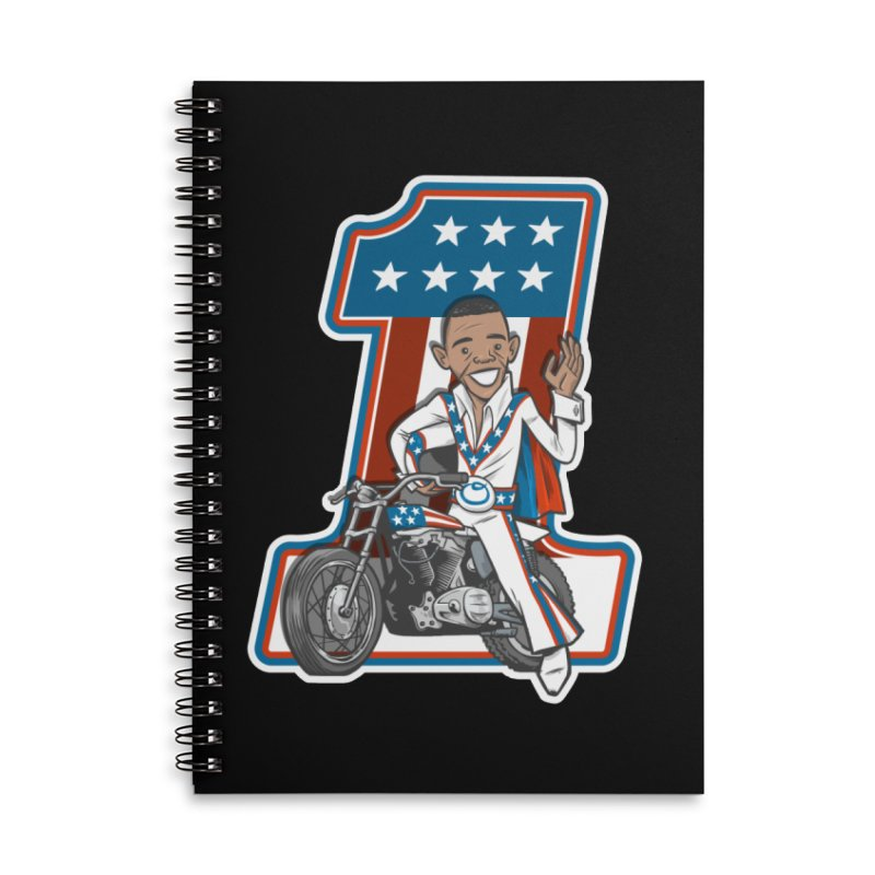The President Accessories Lined Spiral Notebook by Rick Pinchera's Artist Shop