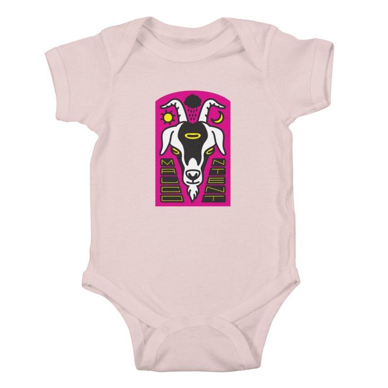 MALCONTENT Goat Kids Baby Bodysuit by Rick Pinchera's Artist Shop