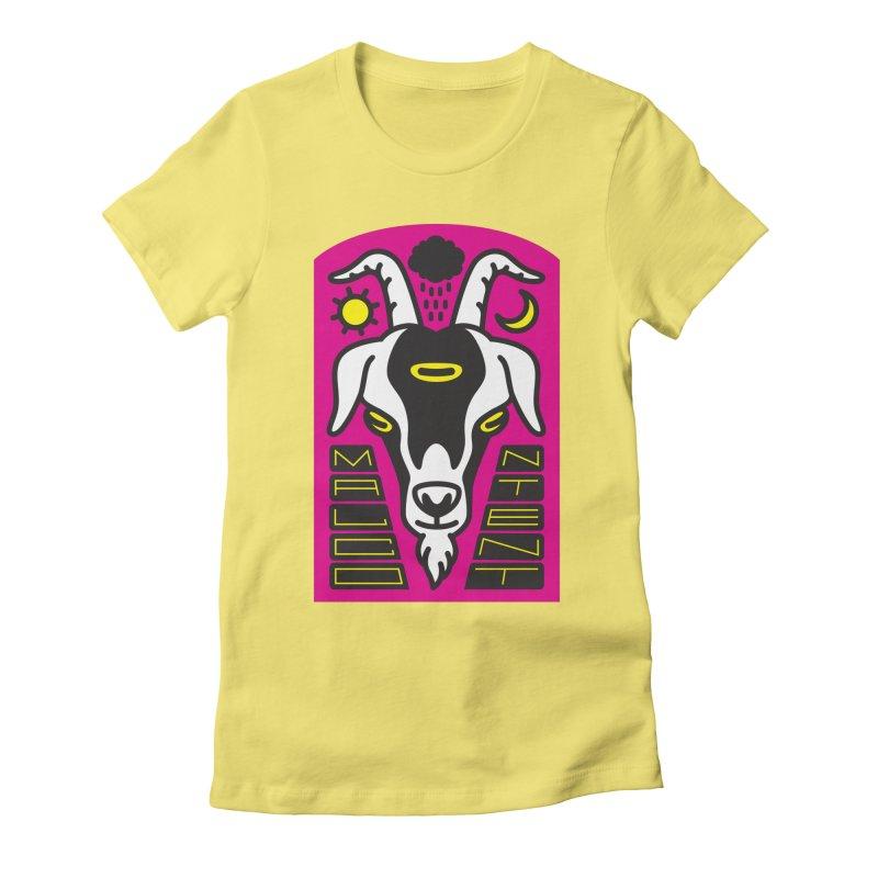 MALCONTENT Goat Women's Fitted T-Shirt by Rick Pinchera's Artist Shop