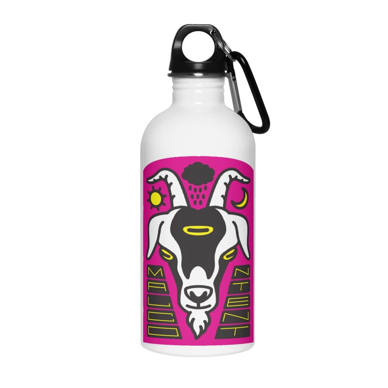 MALCONTENT Goat Accessories Water Bottle by Rick Pinchera's Artist Shop