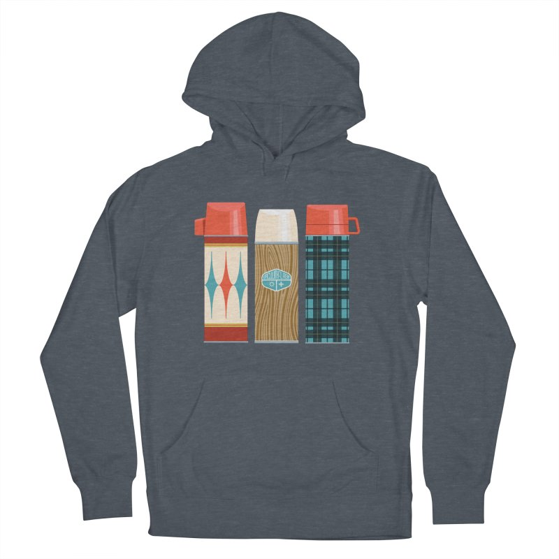 Vintage Vacuum Flasks Men's French Terry Pullover Hoody by Rick Pinchera's Artist Shop