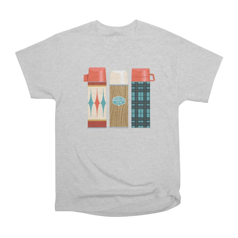 Vintage Vacuum Flasks Women's Heavyweight Unisex T-Shirt by Rick Pinchera's Artist Shop