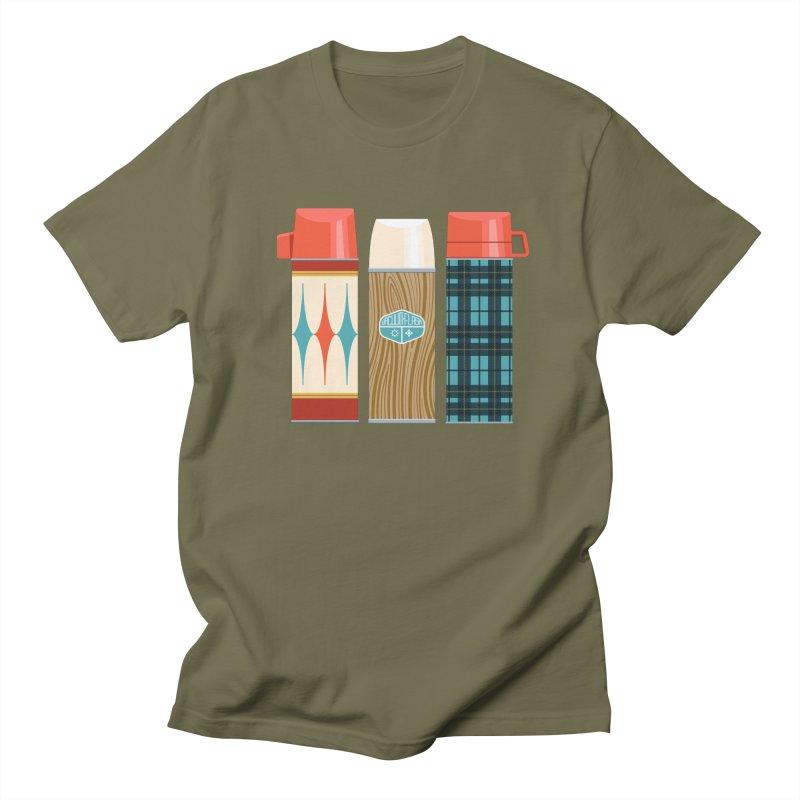 Vintage Vacuum Flasks Men's Regular T-Shirt by Rick Pinchera's Artist Shop