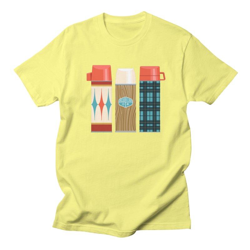Vintage Vacuum Flasks Women's Regular Unisex T-Shirt by Rick Pinchera's Artist Shop
