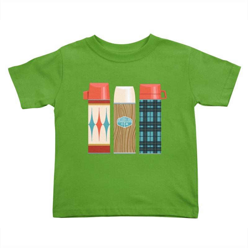 Vintage Vacuum Flasks Kids Toddler T-Shirt by Rick Pinchera's Artist Shop