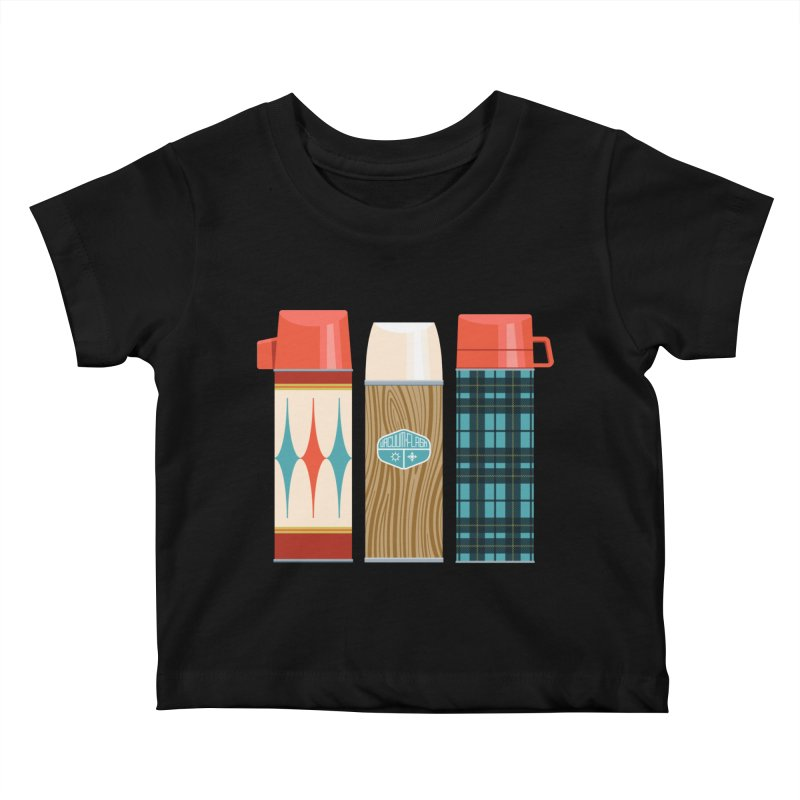 Vintage Vacuum Flasks Kids Baby T-Shirt by Rick Pinchera's Artist Shop
