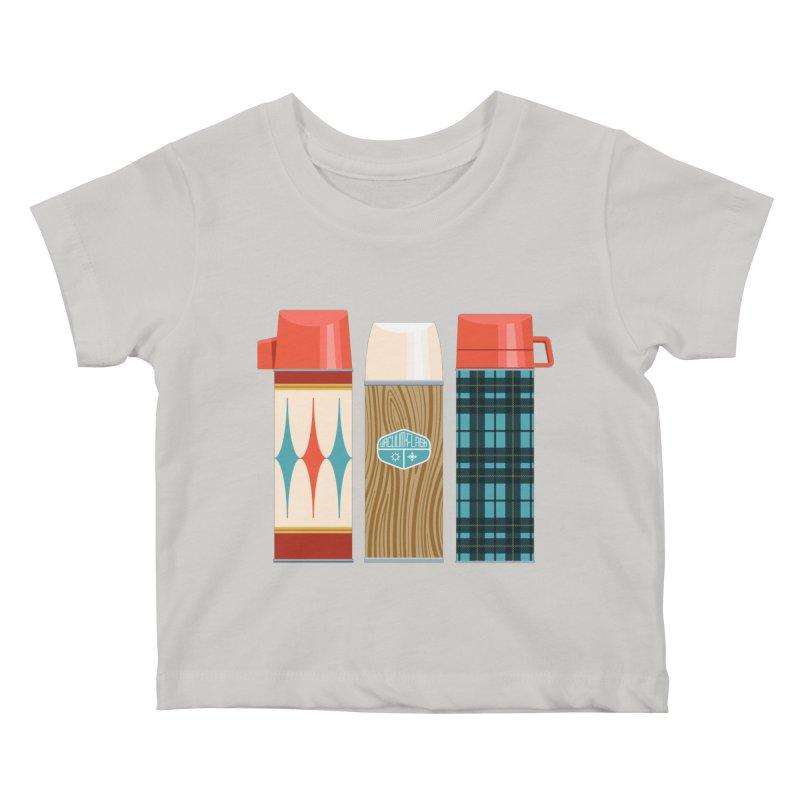 Vintage Vacuum Flasks Kids Baby T-Shirt by Rick Pinchera's Artist Shop
