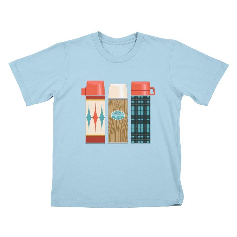 Vintage Vacuum Flasks Kids T-Shirt by Rick Pinchera's Artist Shop