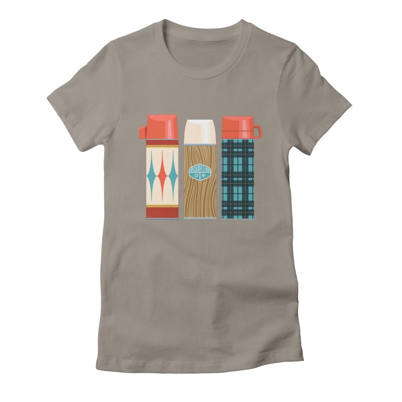 Vintage Vacuum Flasks Women's Fitted T-Shirt by Rick Pinchera's Artist Shop