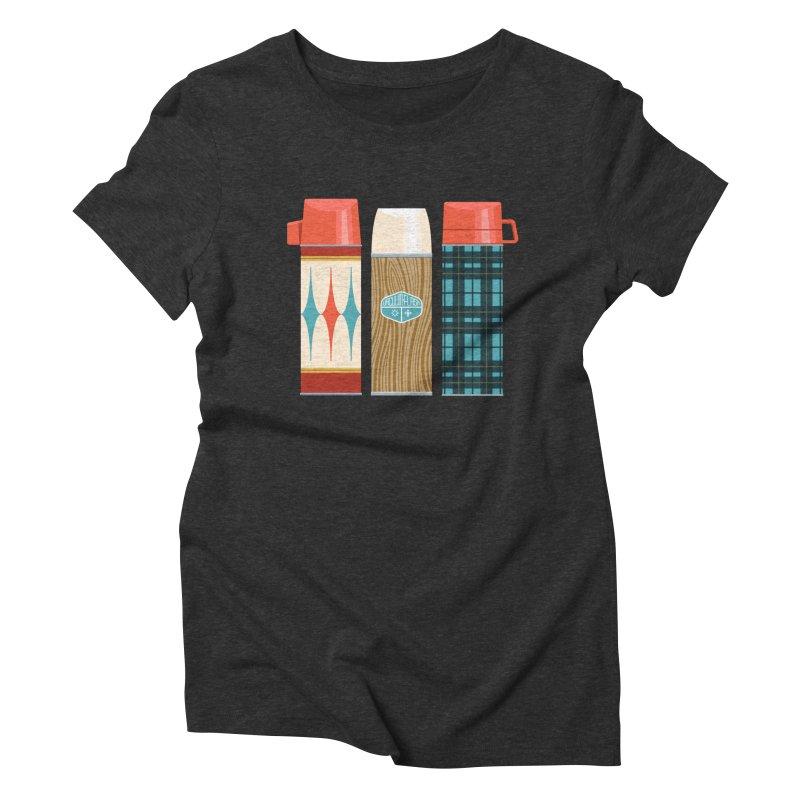 Vintage Vacuum Flasks Women's Triblend T-Shirt by Rick Pinchera's Artist Shop