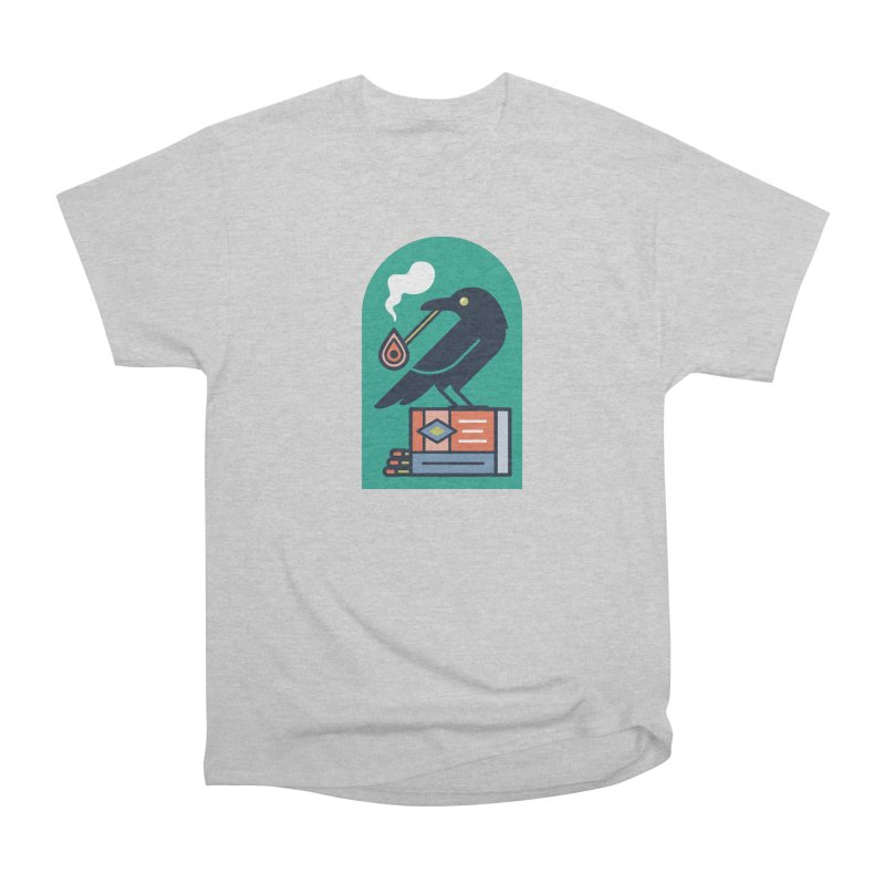 Lit Crow Men's T-Shirt by Rick Pinchera's Artist Shop