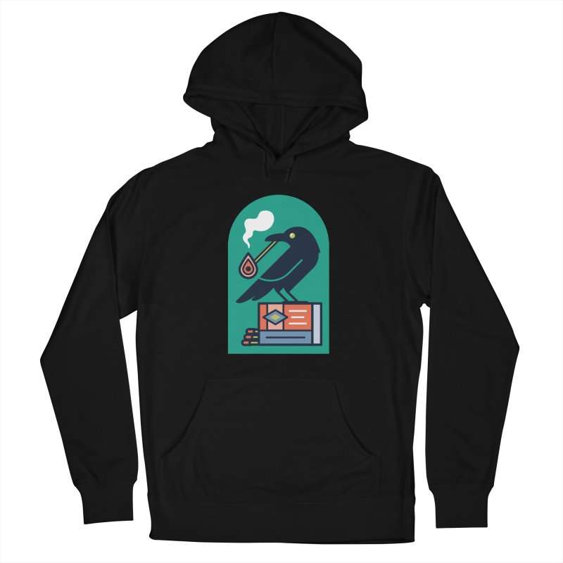 Lit Crow Women's French Terry Pullover Hoody by Rick Pinchera's Artist Shop