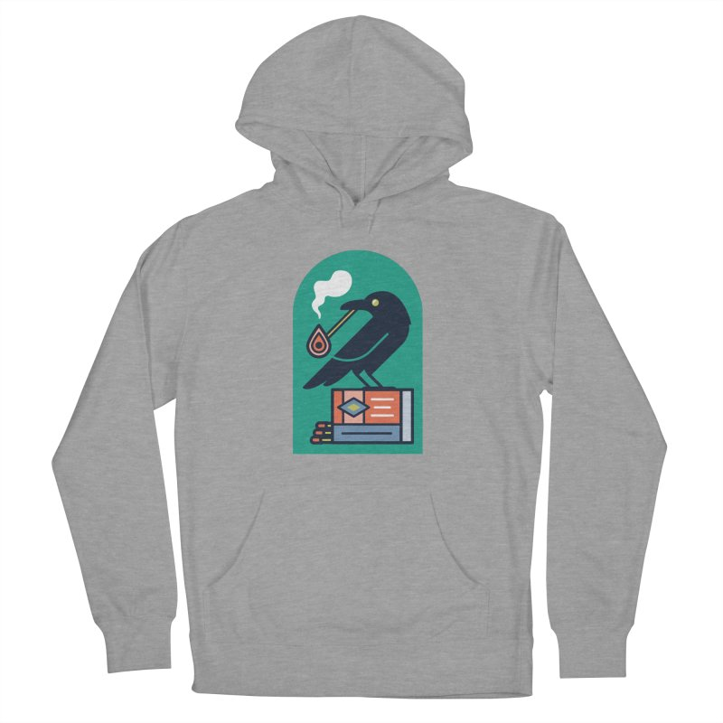 Lit Crow Men's French Terry Pullover Hoody by Rick Pinchera's Artist Shop