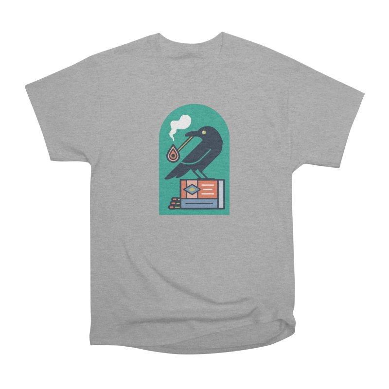 Lit Crow Women's Heavyweight Unisex T-Shirt by Rick Pinchera's Artist Shop