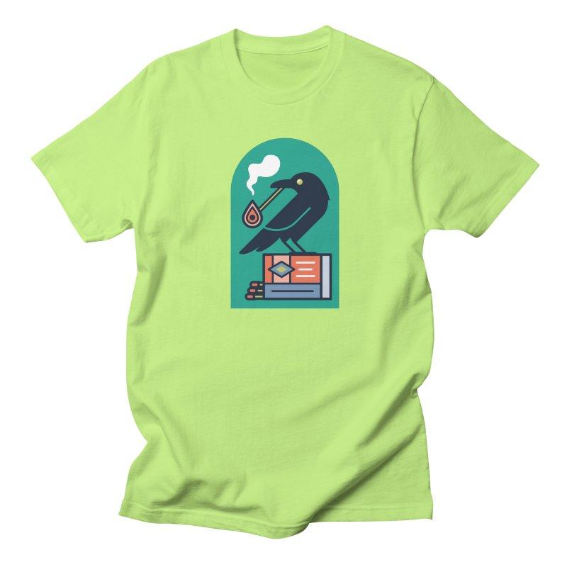 Lit Crow Women's Regular Unisex T-Shirt by Rick Pinchera's Artist Shop