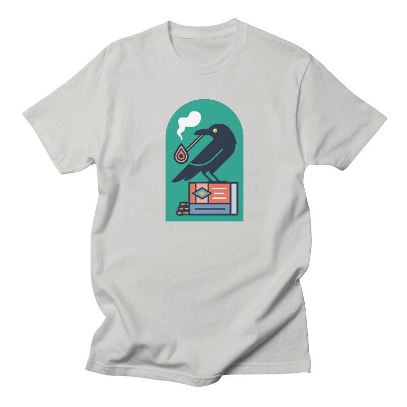 Lit Crow Women's Unisex T-Shirt by Rick Pinchera's Artist Shop