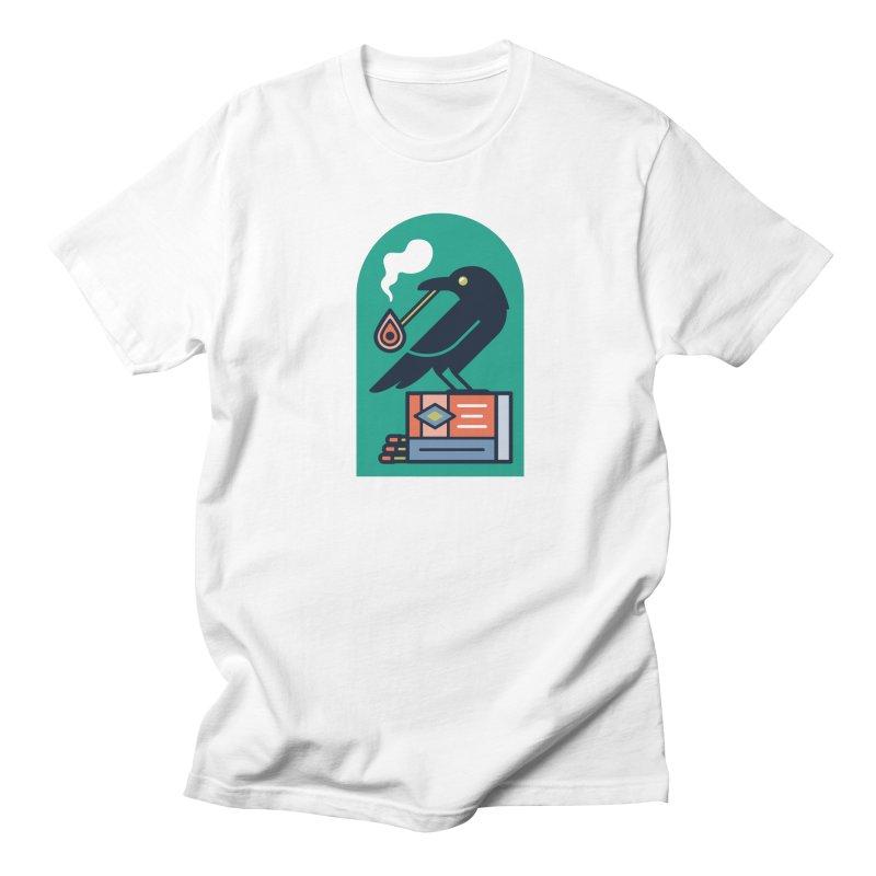 Lit Crow Men's Regular T-Shirt by Rick Pinchera's Artist Shop