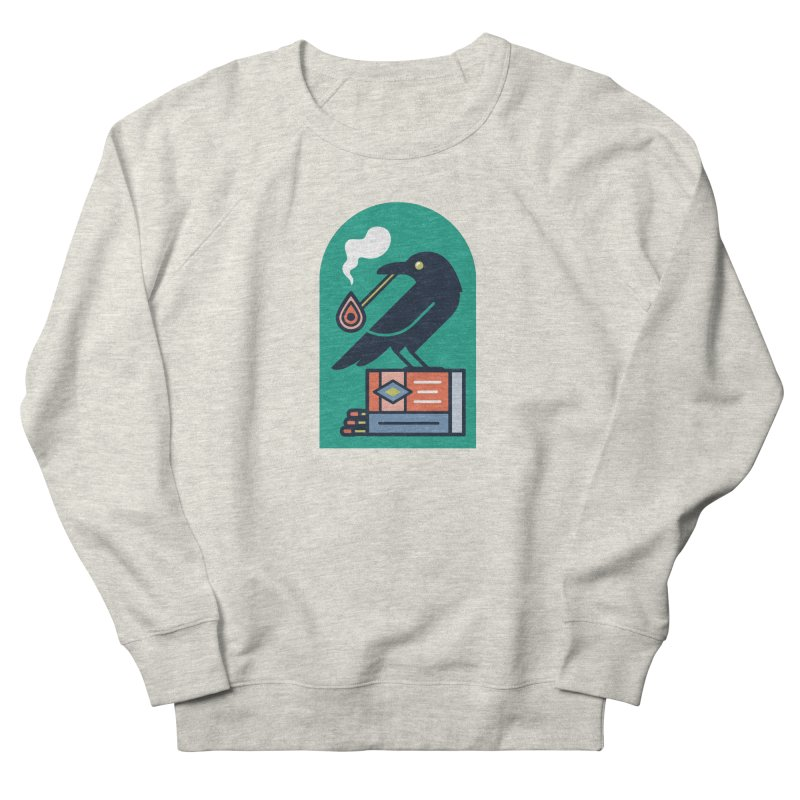 Lit Crow Women's French Terry Sweatshirt by Rick Pinchera's Artist Shop