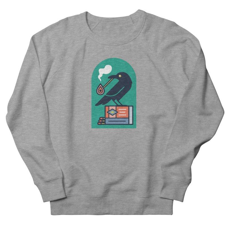 Lit Crow Men's French Terry Sweatshirt by Rick Pinchera's Artist Shop