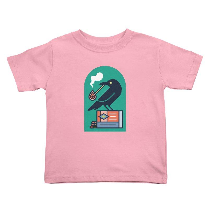 Lit Crow Kids Toddler T-Shirt by Rick Pinchera's Artist Shop