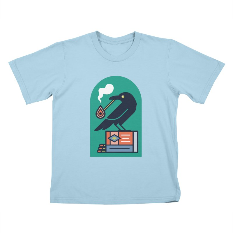 Lit Crow Kids T-Shirt by Rick Pinchera's Artist Shop