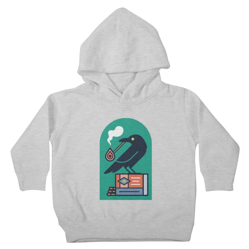 Lit Crow Kids Toddler Pullover Hoody by Rick Pinchera's Artist Shop