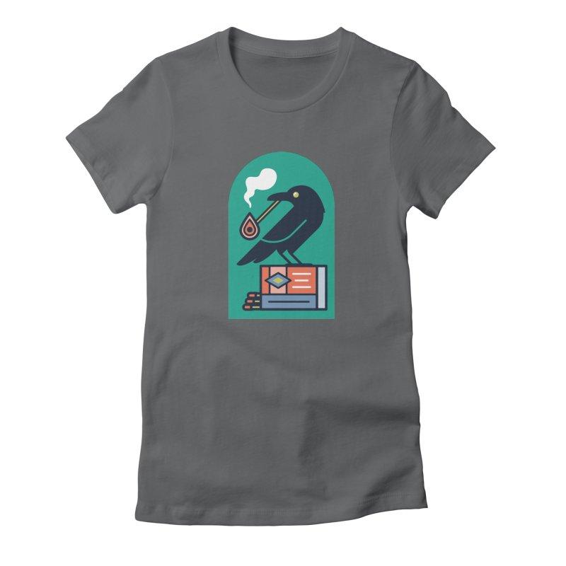 Lit Crow Women's T-Shirt by Rick Pinchera's Artist Shop