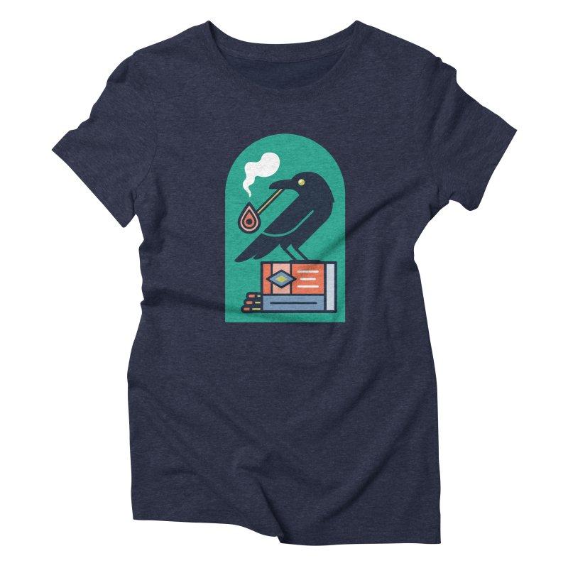 Lit Crow Women's Triblend T-Shirt by Rick Pinchera's Artist Shop