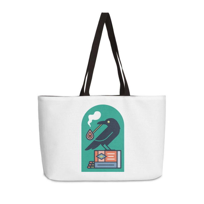 Lit Crow Accessories Weekender Bag Bag by Rick Pinchera's Artist Shop