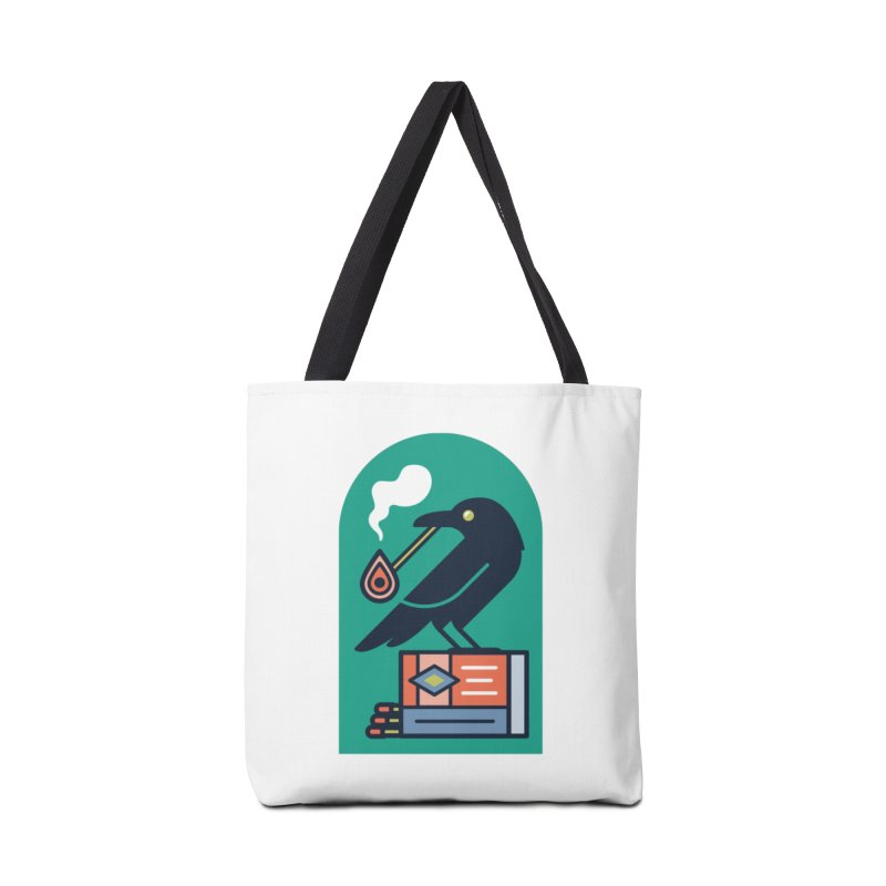 Lit Crow Accessories Bag by Rick Pinchera's Artist Shop