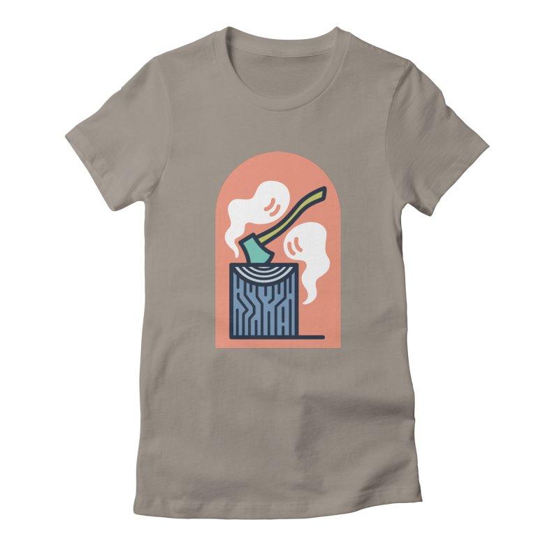 Ghosts Women's Fitted T-Shirt by Rick Pinchera's Artist Shop