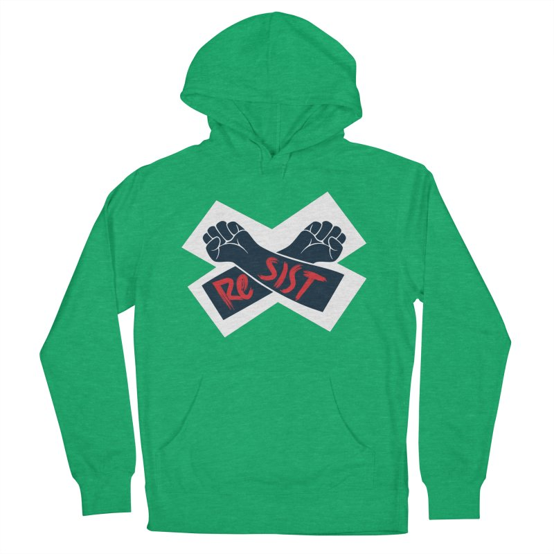 RESIST Men's French Terry Pullover Hoody by Rick Pinchera's Artist Shop