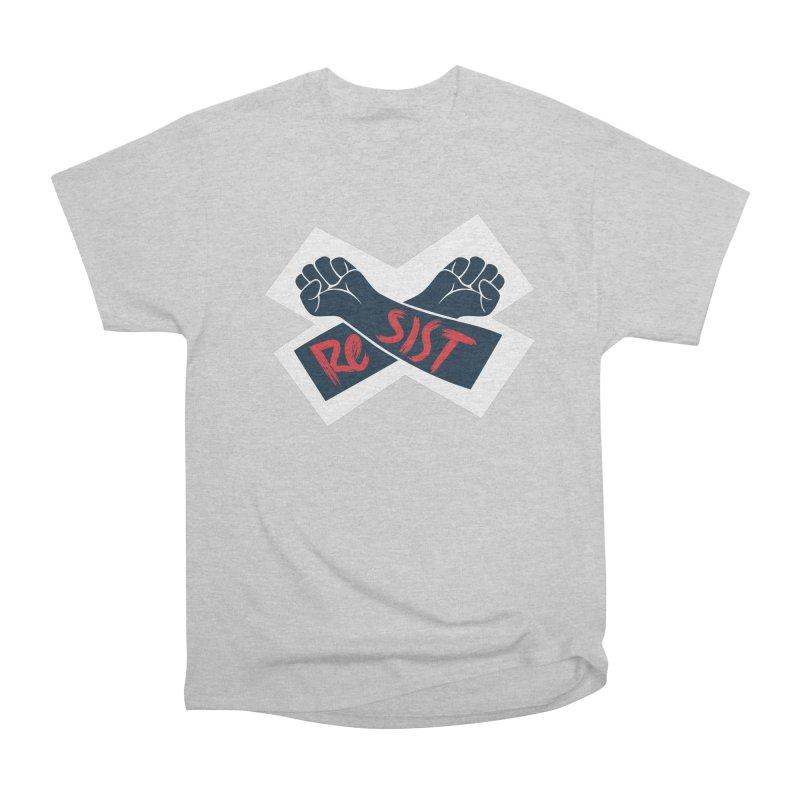 RESIST Men's Heavyweight T-Shirt by Rick Pinchera's Artist Shop