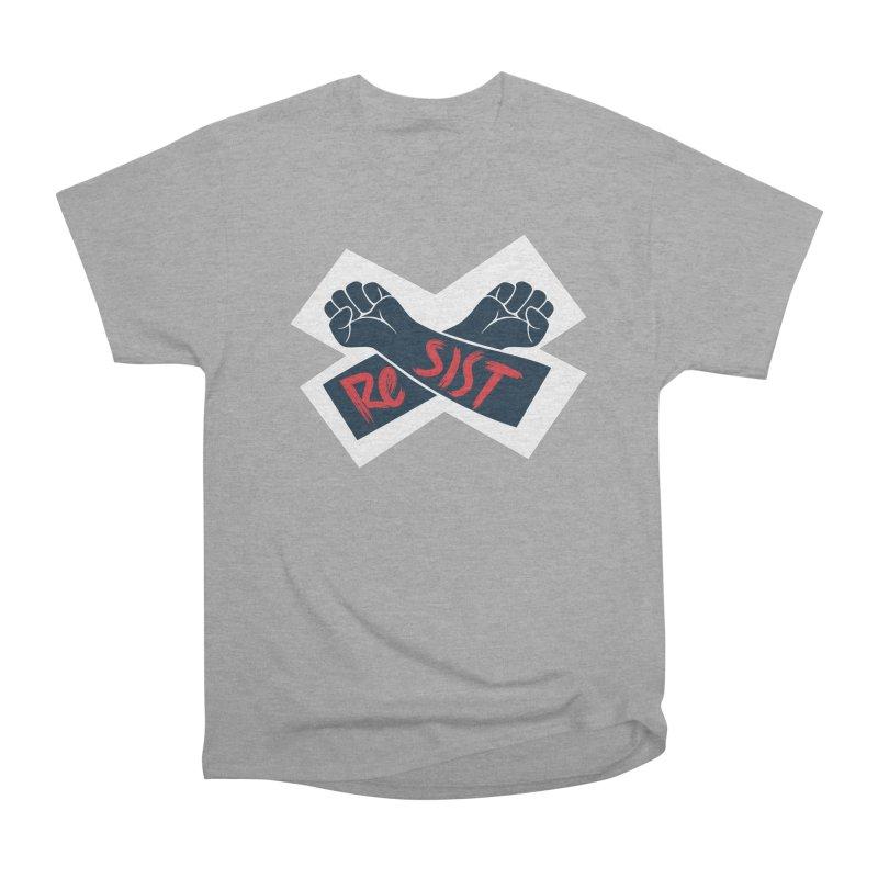 RESIST Women's Heavyweight Unisex T-Shirt by Rick Pinchera's Artist Shop