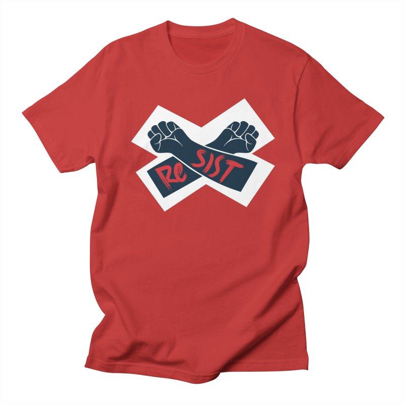 RESIST Men's Regular T-Shirt by Rick Pinchera's Artist Shop