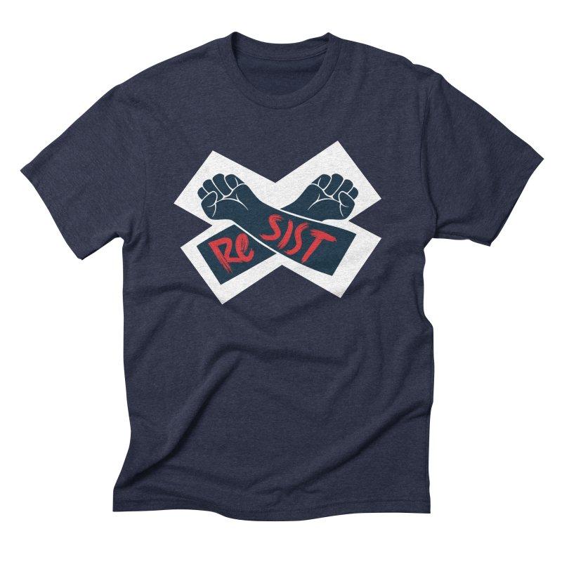 RESIST Men's Triblend T-Shirt by Rick Pinchera's Artist Shop