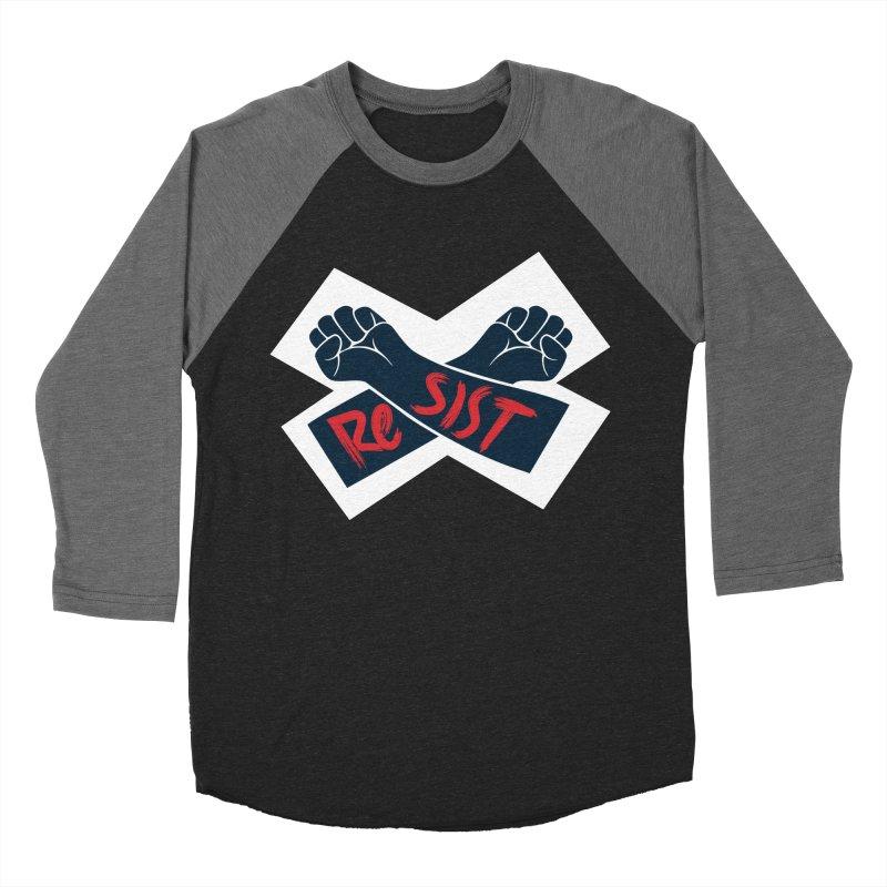 RESIST Men's Baseball Triblend T-Shirt by Rick Pinchera's Artist Shop
