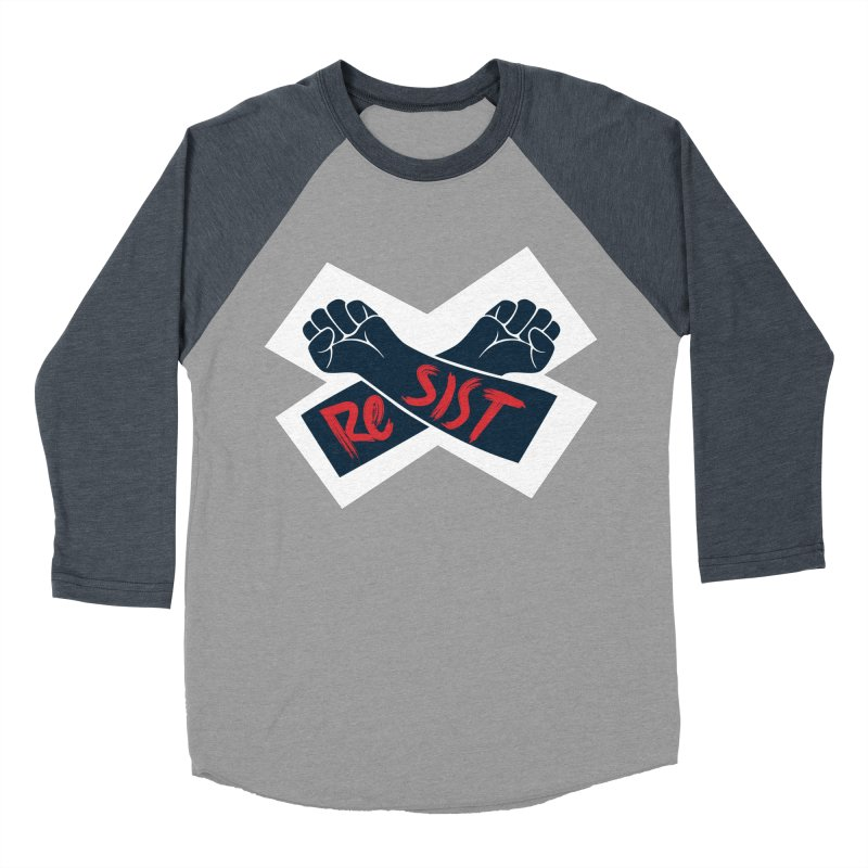 RESIST Men's Baseball Triblend Longsleeve T-Shirt by Rick Pinchera's Artist Shop