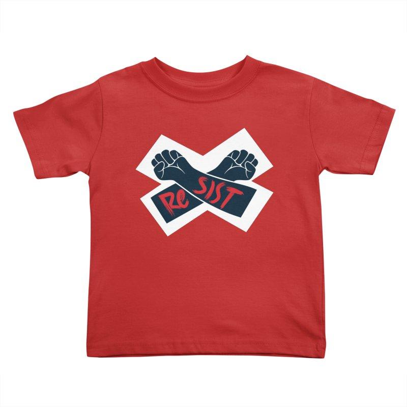 RESIST Kids Toddler T-Shirt by Rick Pinchera's Artist Shop